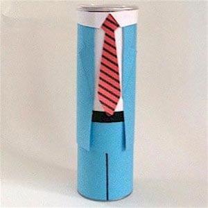 Силуэт мужчины с галстуком из банки