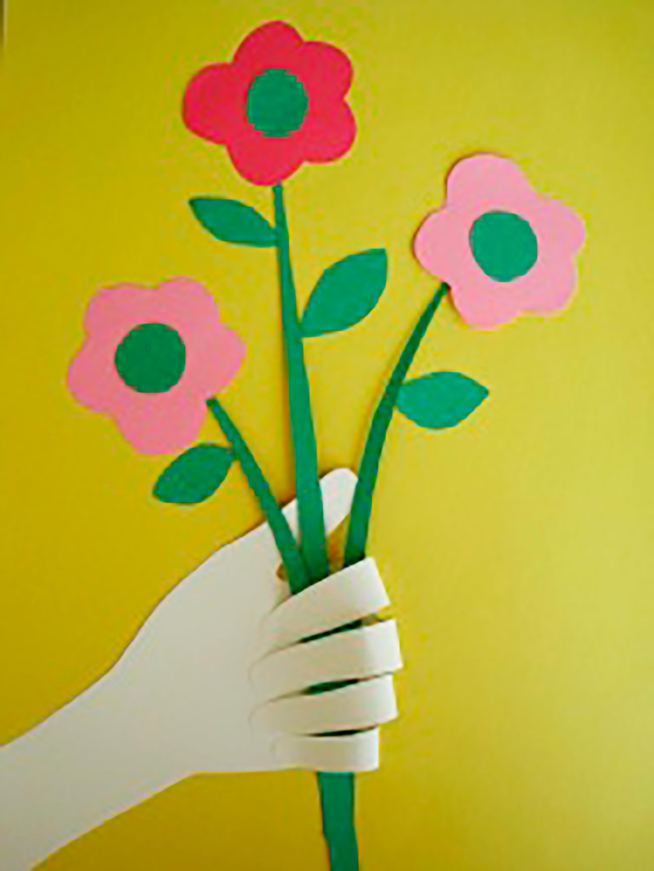 Поделка цветы с детьми 3 лет 69