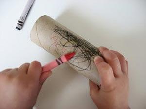Coloring the cardboard sleeve