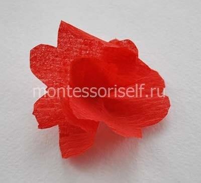 Объемный цветок