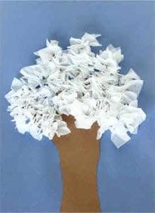 Поделка зимнее дерево
