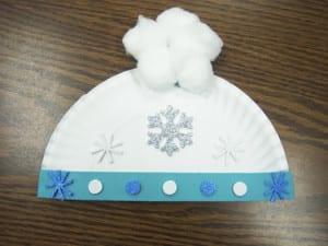 Поделка зимняя шапка
