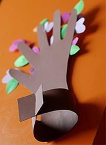 Закрепляем ствол дерева 3