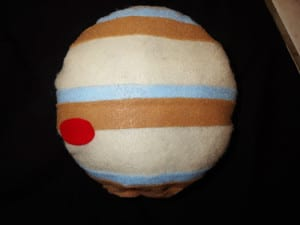 """Юпитер с """"полосами"""" и Большим красным пятном"""