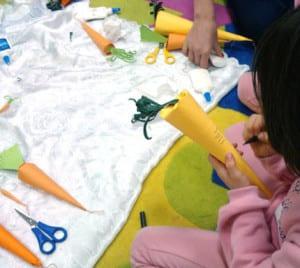 Рисуем полосочки у морковки