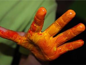Раскрашенная рука