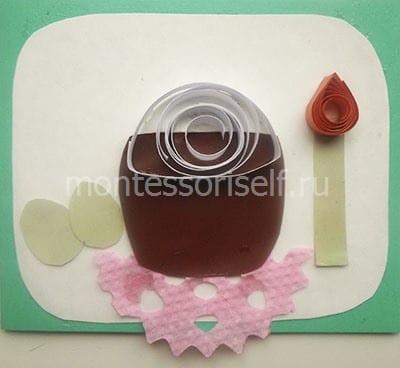 Украшение для кулича и свечки из скрученной бумаги