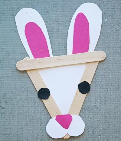 Кролик из палочек от мороженого