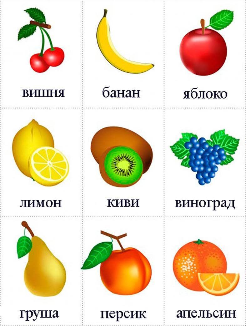 картинки для детей фрукты овощи