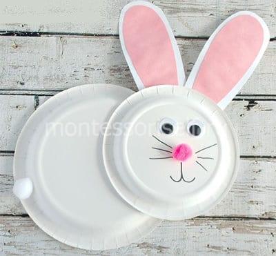 Кролик из бумажных тарелок