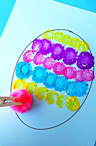 Делаем отпечатки на нашем яичке