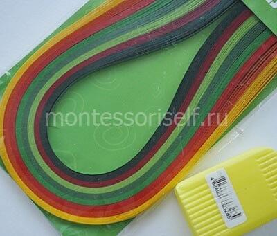 Цветные полоски для квиллинга