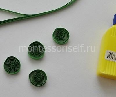 Круглые зеленые роллы