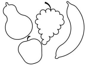 Раскраска фрукты 1