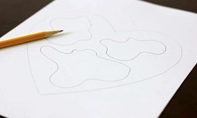 Рисуем материки внутри сердца