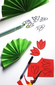 Рисуем и вырезаем цветы