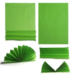 Делаем гармошку из зеленой бумаги