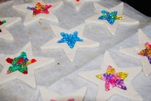 Звезды из соленого теста