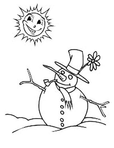 Солнышко и снеговик