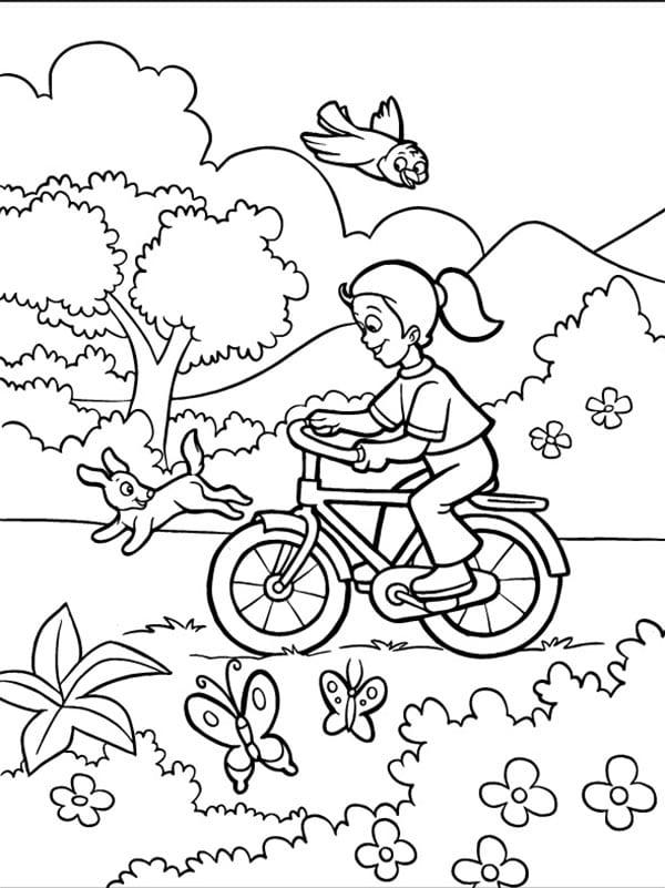 Раскраска для девочек природа распечатать - 8
