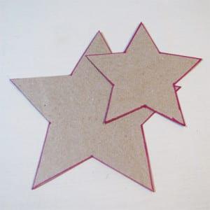 Две картонные звезды