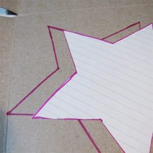 Отпечаток звезды на картоне