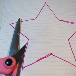 Верезаем шаблон из бумаги
