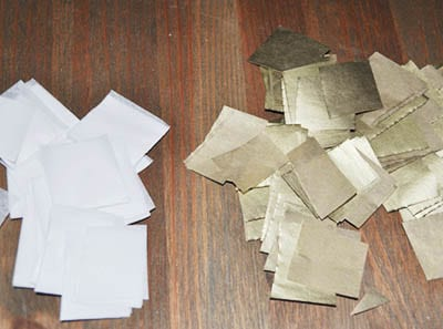Кусочки бумажки