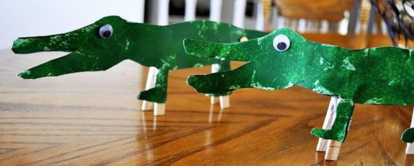 Отличные крокодилы из бумаги