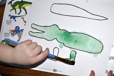 Раскрашиваем крокодила