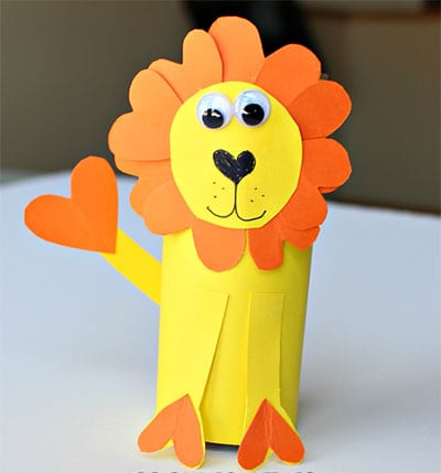 Какой веселый лев получился!