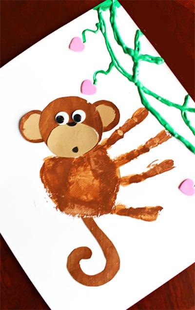 Рисунок и аппликация обезьянка 1