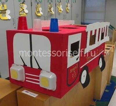 Пожарная машина со стаканчиками