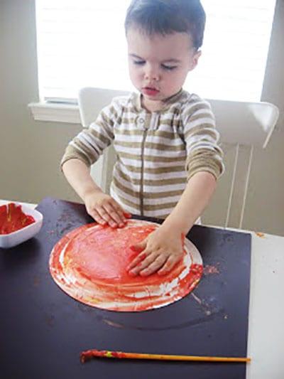 Размазываем краску