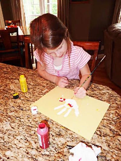 Рисуем гребешок и крылышко