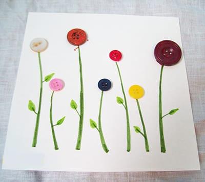 Цветы из пуговиц 1