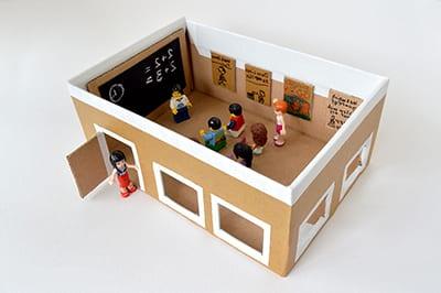 Школа из картонной коробки 2