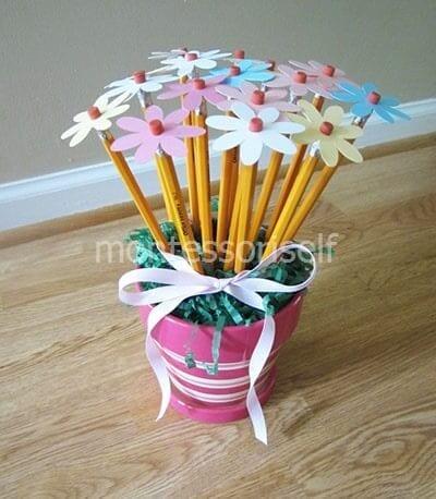 Букет из карандашей в подарок учителю