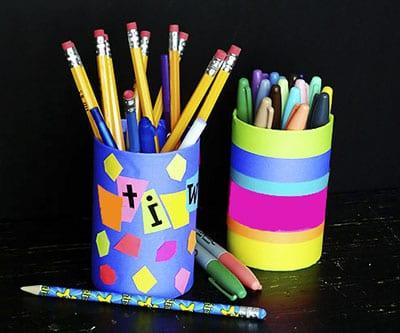 Как украсить стакан под карандаши? 6