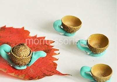 Чайный сервиз из желудей