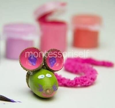 Мышка из желудя