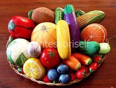 Фрукты и овощи из камней