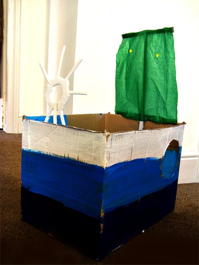 Корабль из коробки готов