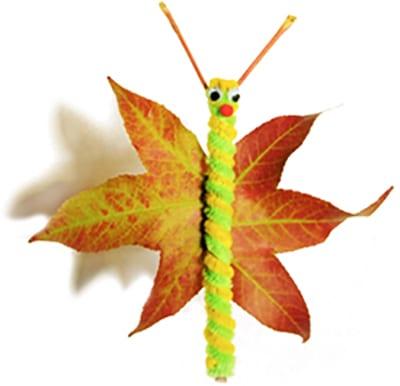 Бабочка из осеннего листа