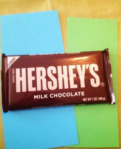 Бумага для оборачивания шоколадки