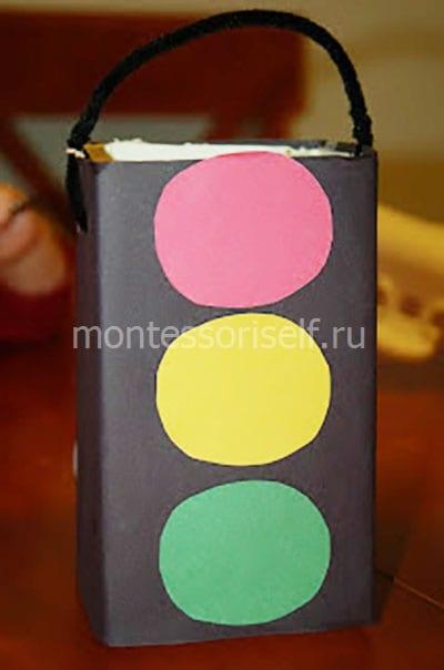Светофор из коробки