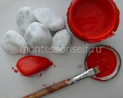 Раскрашиваем камни