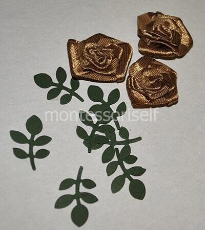 Розочки и листья