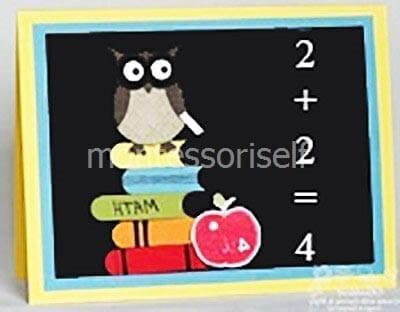 Открытка учителю математики