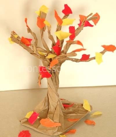Осеннее дерево из бумаги